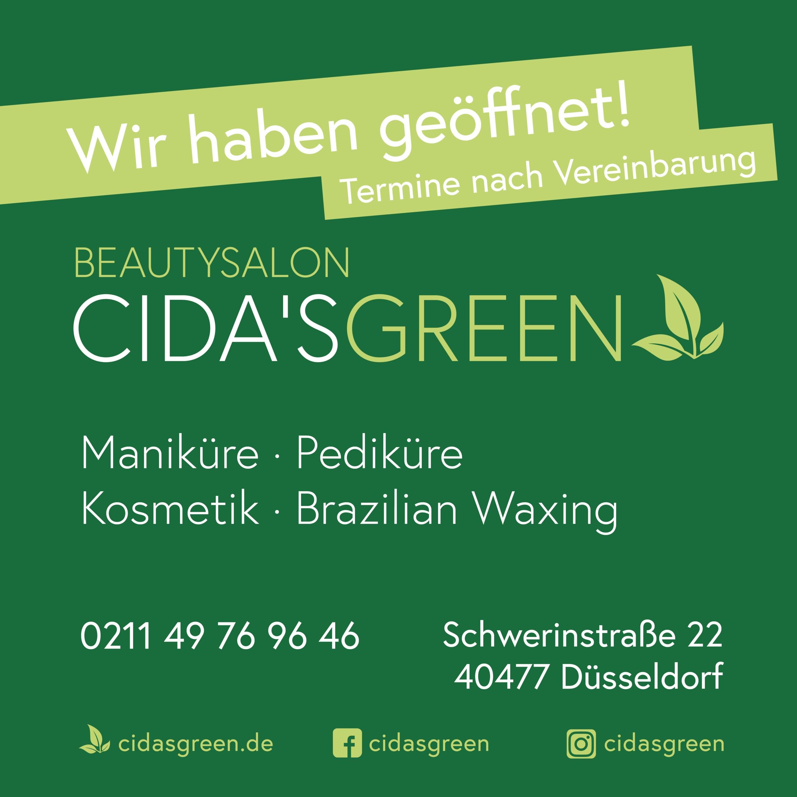 CIDA'S GREEN Wir haben geöffnet